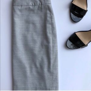 Banana Republic Grey Career Style Pencil Skirt
